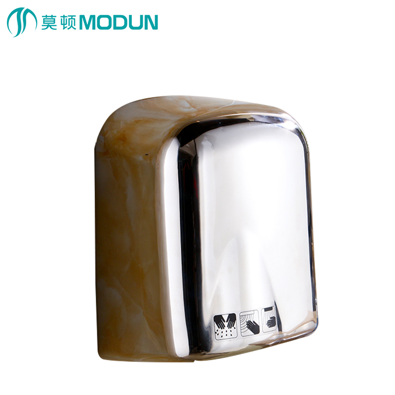 MODUN brand new chrome surface stainless steel 304 automatic hand dryer for hotel commercial bathroom M-165S modun manufacturer 2300w commercial wall mount high speed automatic hand dryer