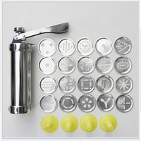 RSCHEF 1 Pieces Food Grade Aluminum alloy Cake Decoration Nozzles Pastry Icing Piping Syringe Gun