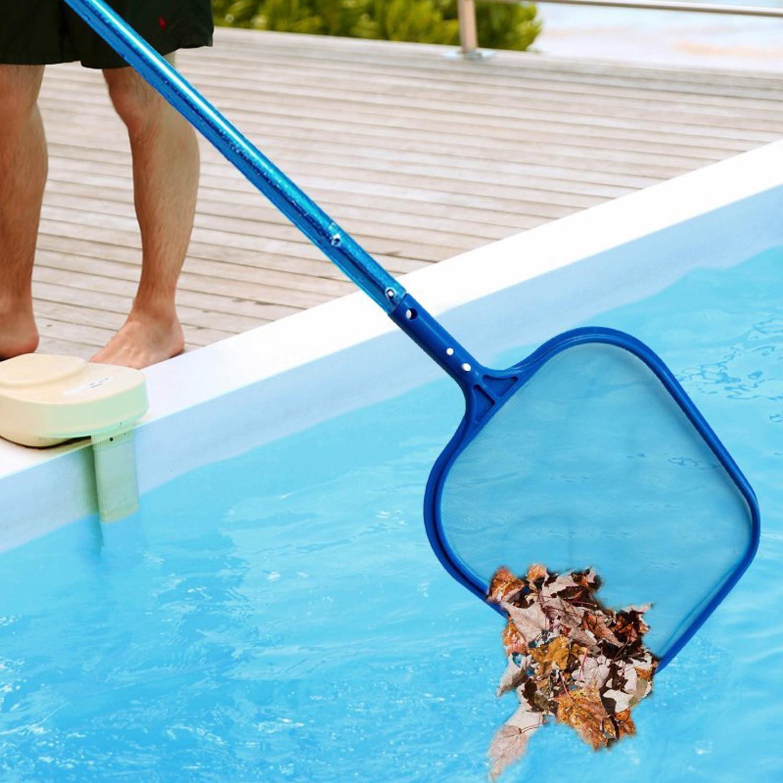 Professional Blue Plastic Leaf Rake Mesh Net Skimmer Clean Swimming Pool Tool Leaf Skimmer Net