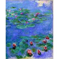 Canvas wall pictures pop art Water Lilies Red oil painting Claude Monet framed landscape modern home decor