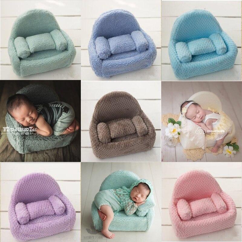 Nouveau-né photographie prop bébé canapé chaise photoshooting posant accessoire en peluche chaise et canapé couvre de beaux accessoires