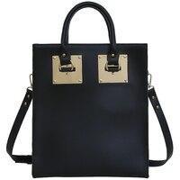 ساحة للدراجات حقيبة جلدية للمتسوقين حقيبة 2018 الربيع أزياء النساء الأسود crossbody حقائب السيدات مصمم حقائب الكتف الصلبة