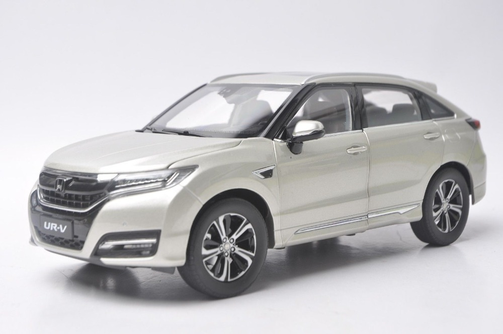 цены  1:18 Diecast Model for Honda UR-V 2016 Gold SUV Alloy Toy Car Collection URV UR