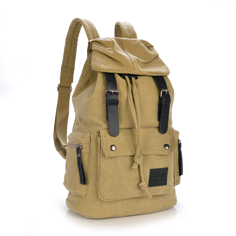 Large Casual Canvas Men Travel Backpack Vintage Student School Bags For Women Leisure Men Laptop Backpack 15 Inch Rucksack 1082 men s leather canvas backpack youth large capacity vintage military backpack travel bags fashion casual women laptop school bags