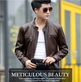 5XL New Men's Slim Short Leather Jackets Men Stand Collar Coats Male Motorcycle Leather Jacket Solid Casual Brand Clothing