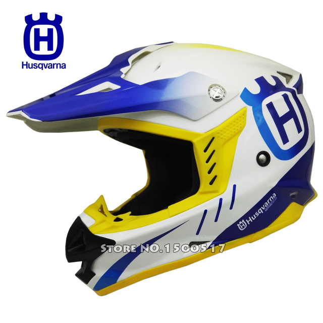 HUSQVARNA Motocross Helmet Off Road Professional Rally Racing Helmets Men Motorcycle Helmet Dirt Bike Capacete Moto casco