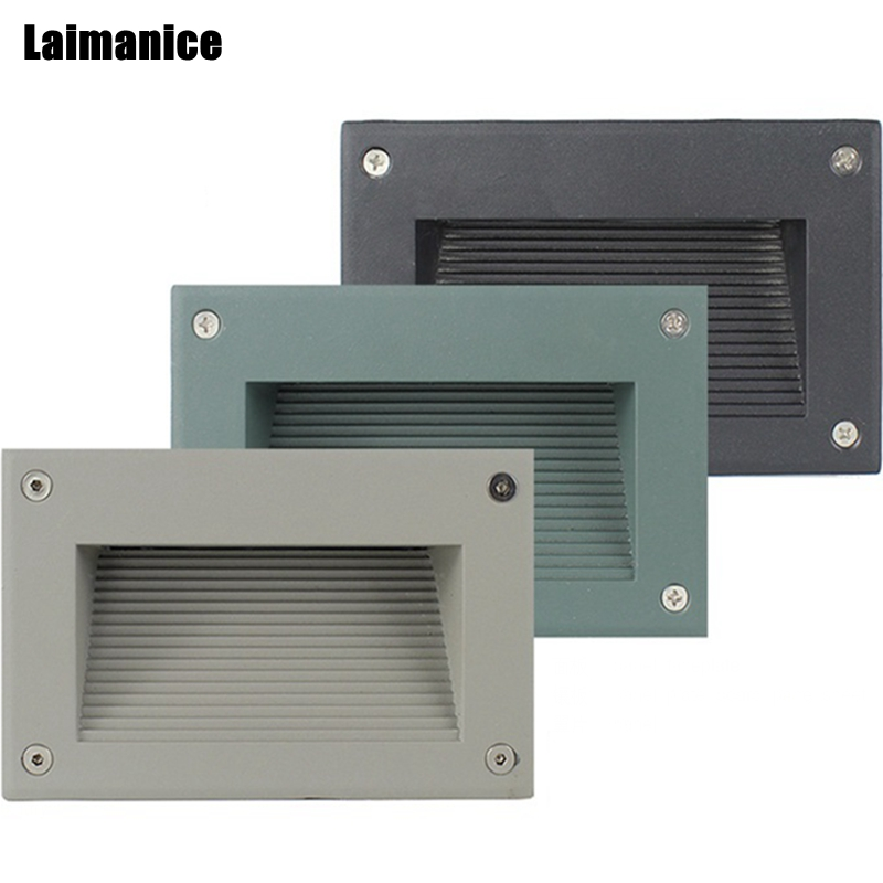 Basement Stair Ceiling Lighting: Hot 3W 6W AC85V 265V Led Wall Corner Lamp Recessed Step