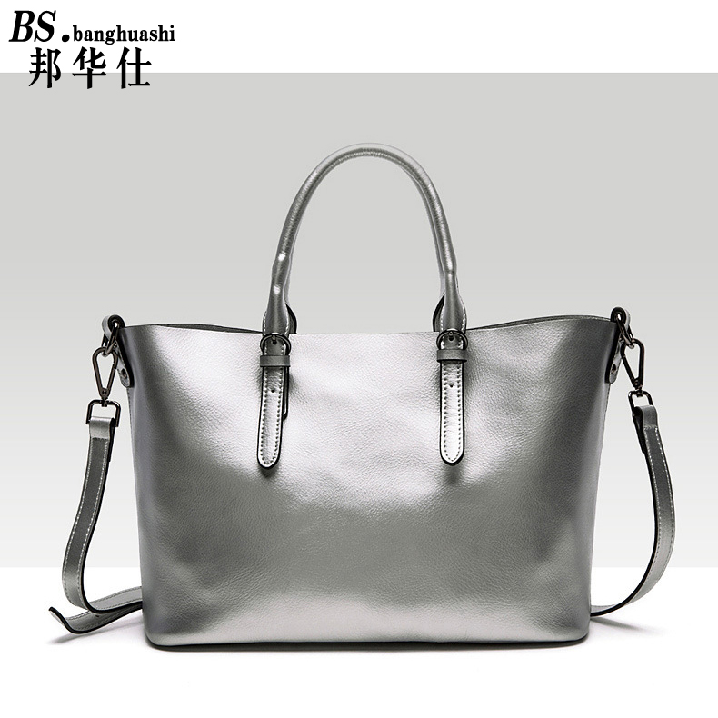 2016 New Leisure Fashion Leather Handbag Leather font b bag b font Shoulder Portable Diagonal Cross