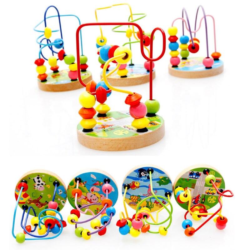 Детские игрушки, деревянные головоломки раннего бисера ЛАБИРИНТ горки Развивающие игрушки для малышей для детей подарок для ребенка 2018 ...