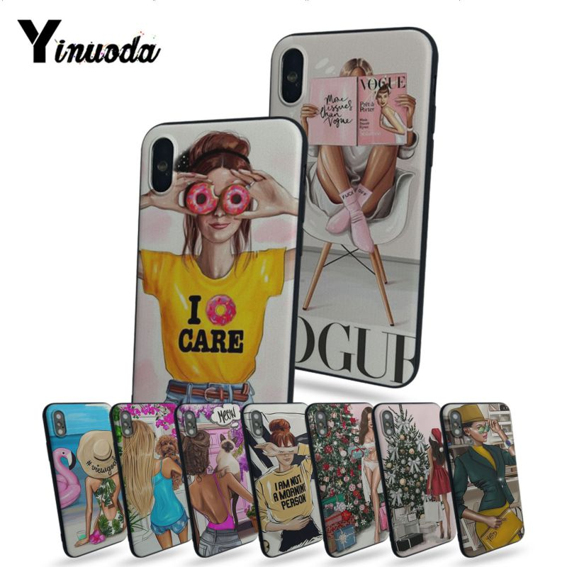 Yinuoda VOGUE Christmas girl Hot Printed Cool Phone Accessor