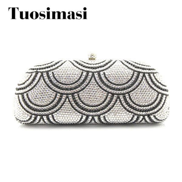 Elegant Crystal Wedding Bag Fashion Ladies Clutch Purse 2018 hot selling diamond women evening bags black and white two color hot selling elegant ladies clutch bag fashion women handbags wedding handbags c696