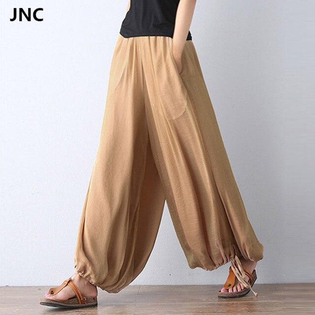 7c144bde684bd2 2017 New Women Yoga pants Jumpsuit Harem Pants Solid Color Bohemia Wide Leg  Yoga Pants for Women