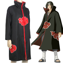 цена на Classic  Anime  Naruto Cosplay   Akatsuk Cloak Cosplay Costumes Uchiha Itachi clothing Cloak  European  size