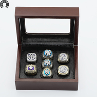 Factory Sales Ring Sets With Wooden Boxes Replica Baseball Copper High Quality 7pcs Packs Yankees Championship