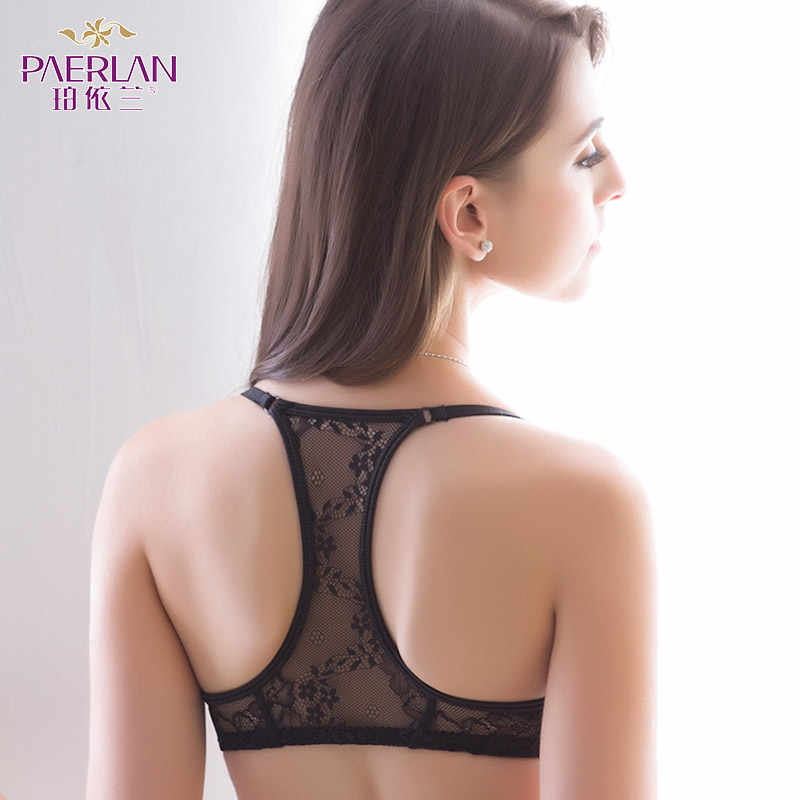 039ec7c39ba67 PAERLAN Front Closure Wire Free bra comfortable non-trace small breasts  Push Up sexy h