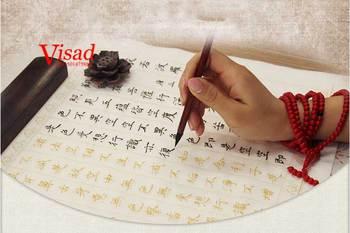 Sutra serca ryż biały papier do malowania kaligrafii i praktyki kopiuj papier Xuan Prajnaparamita tanie i dobre opinie TAI YI HONG Malarstwo papier Chińskie malarstwo VD-BP-00124 10 sheet pack 35*70 cm half- cooked