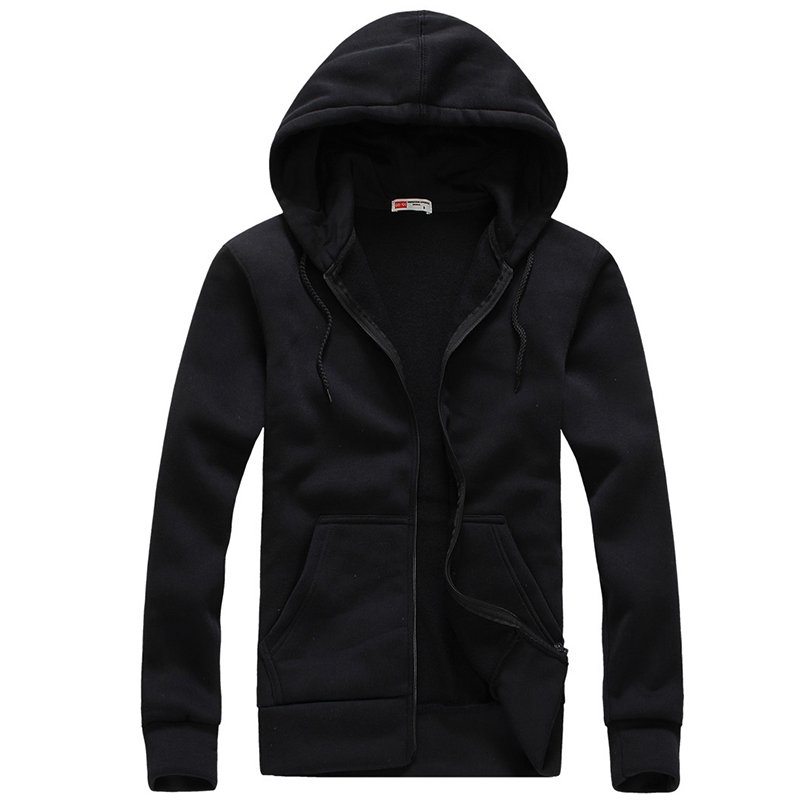 2017 Men Hoodies and Sweatshirts Mens Casual Cotton Hooded cardigan Hoddie Coat hip hop Sportsuit Tracksuit Sweatshirt