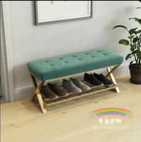 Nordic simple iron art small sofa changing shoes bench bench bed modern end stool low stool shoe shop try shoes chair
