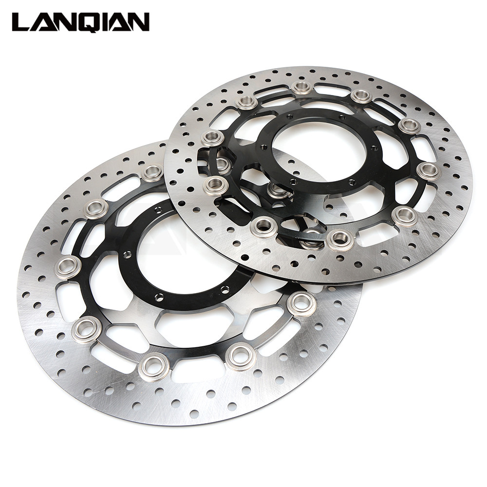 For Honda CBR600RR 2003-2017 CBR1000RR 2004-2005 CB1300 Motorcycle Front Floating Brake Disc Rotor CBR 600RR 1000RR 600 1000 RR one pair high quality motorcycle cbr1000rr front floating brake disc rotor for honda cbr1000rr cbr 1000rr cbr 1000 rr 2004 2005