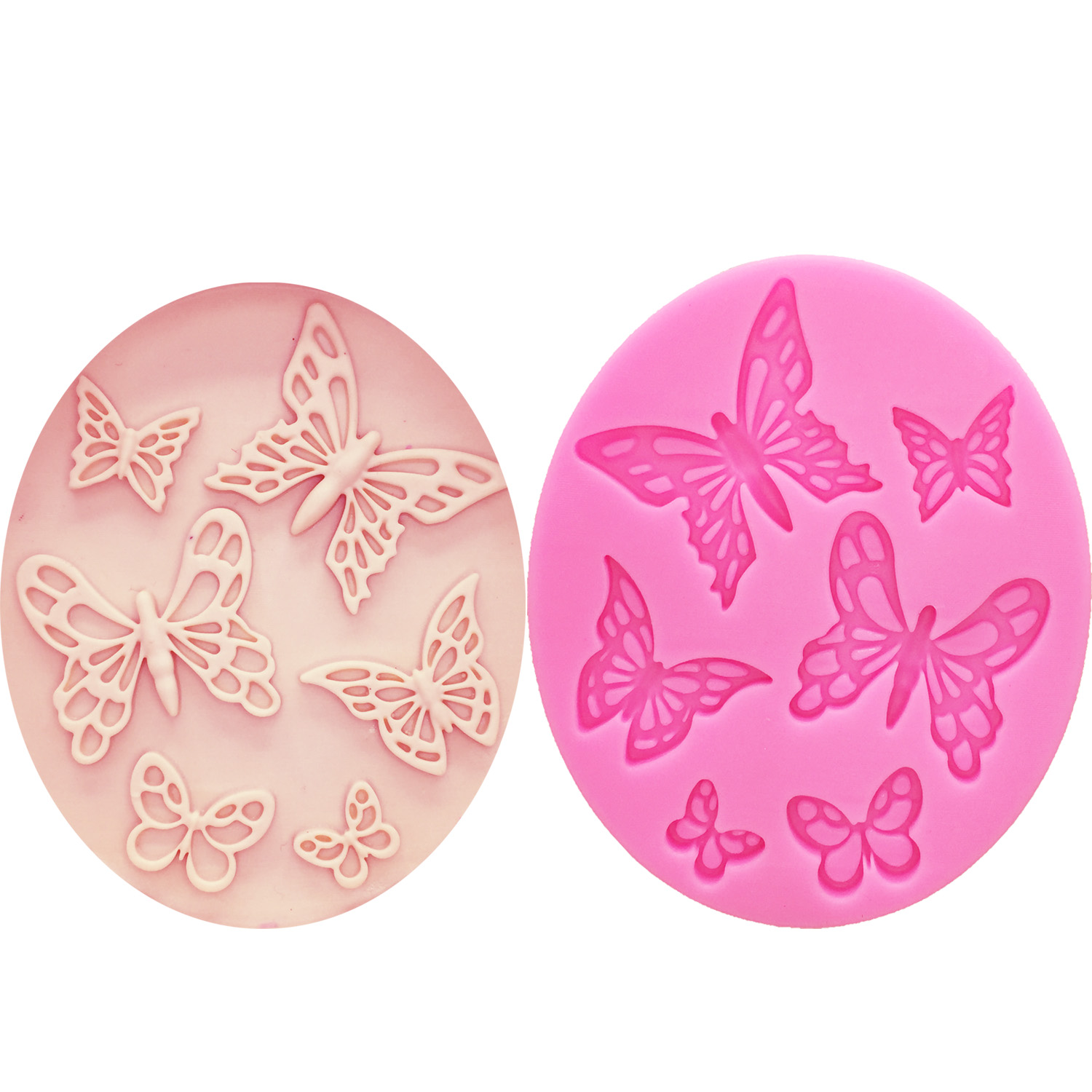 WJSYSHOP Rose Shape Silicone Chocolate Fondant Biscuit Mold Cake Decorating Baking Mould Single Roses