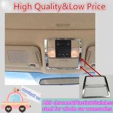 Автомобиль покрытие палку ABS Хром Передняя головной чтение выключатель света лампы рамка Отделка 1 шт. для Toyota Prado FJ150 2010 2011 2012 2013