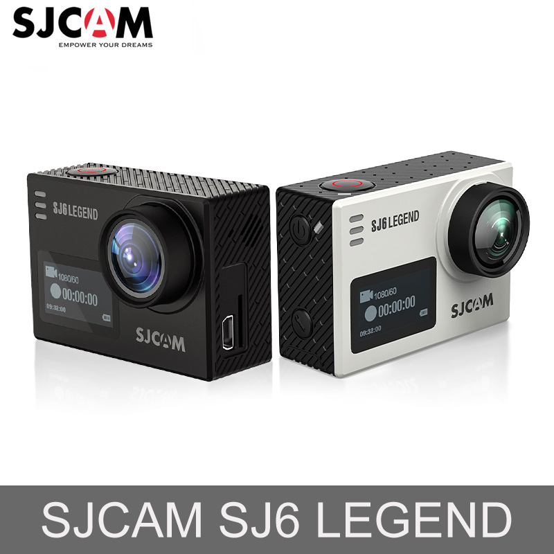 SJCAM SJ6 Lenda Novatek96660 Gyro 4 k Ultra HD Wi-fi Câmera de Ação Câmera De Vídeo De Ação De Controle Remoto 16MP À Prova D' Água Esporte câmera