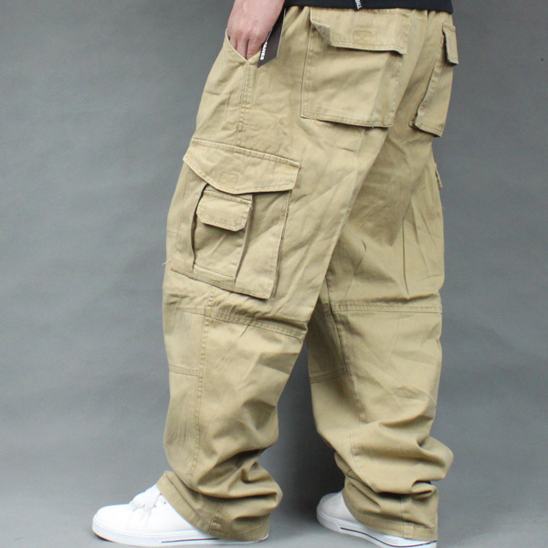 Солнцезащитные тактические мужские брюки-карго размера плюс для спорта на открытом воздухе, свободные брюки для бега, размеры 4XL 5XL 6XL, максимальная талия 135 см, вес 140 кг - Цвет: Khaki