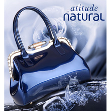 купить New Luxury Europe diamond Fashion Women Bags Chains Patent Leather Shoulder bag Famous Brand Shoulder Handbag Ladies totes по цене 1615.63 рублей