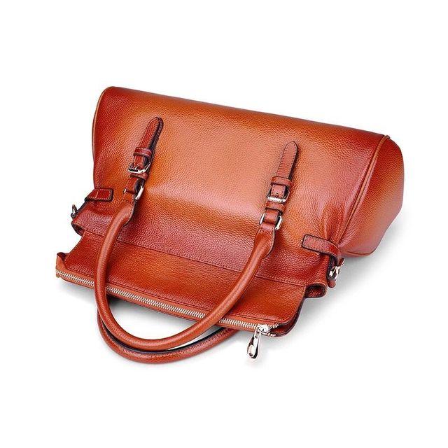 Genuine Leather Female Bag Women Handbag and Purse Vintage Casual High Quality Cross Body Shoulder Bag Satchel feminine bolsa