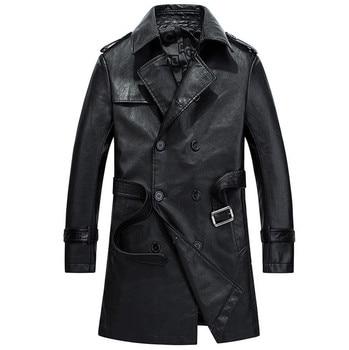 2020 New arrival motorcycle leather jacket Top quality Waterproof Windbreaker Men leather jackets Coats Black Khaki