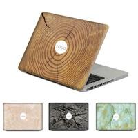 3D Gỗ Nhẫn Đá Cẩm Thạch Vinyl Decal Sticker Cho MacBook Air Pro 11 13 15 inch đối với Mac Laptop Trường Hợp Full Bìa Top Sticker Skin