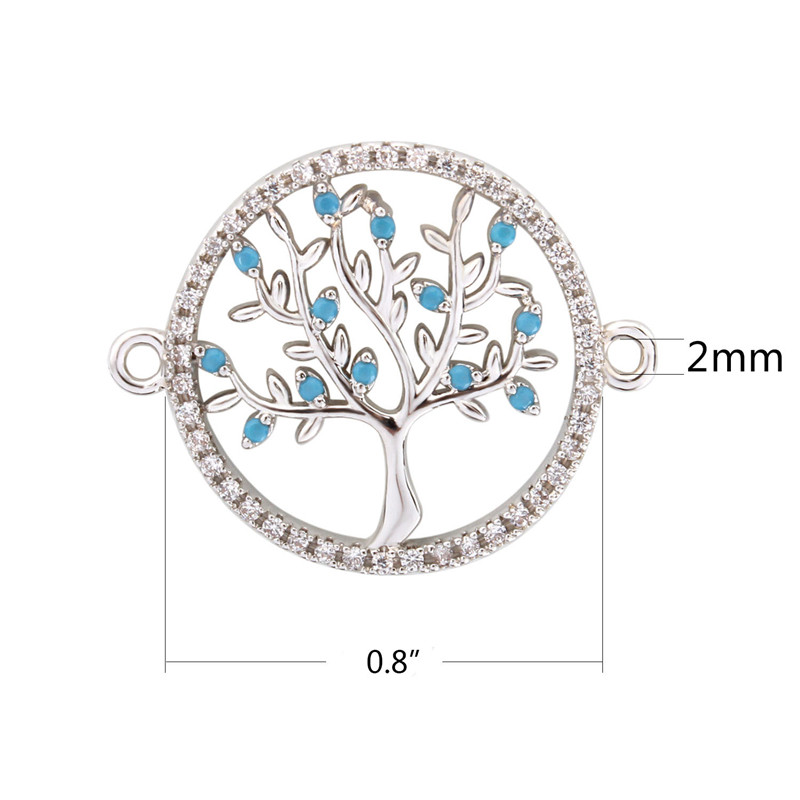 High Quality Silver Color Tree of life Necklace Pendant Replace  Pendants (6)