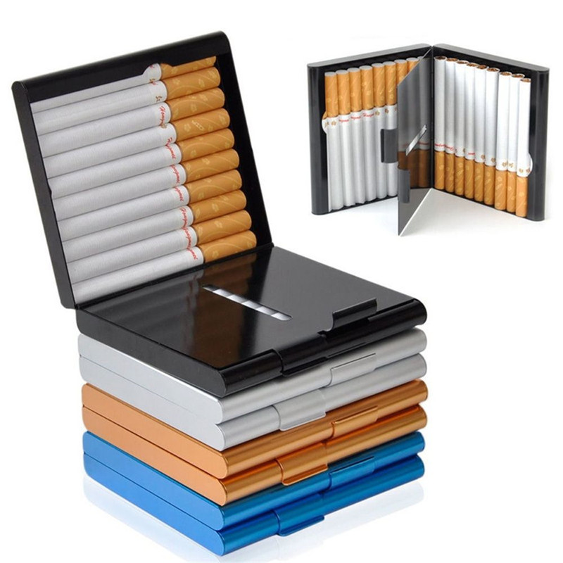 Case Storage Cigarette-Case-Storage Open-Pocket-Cigarette Aluminum Container Gifts Double-Sided