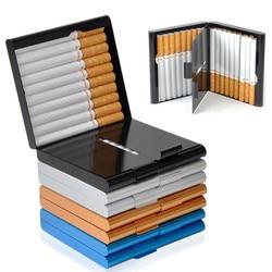 Aluminium papieros schowek na okulary na 20 do przechowywania papierosów dwustronny Flip luźne kieszenie-papieros schowek na okulary pojemnik prezenty