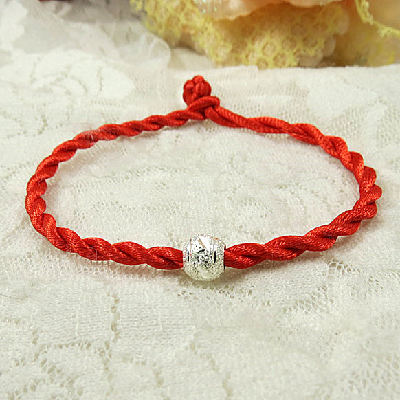 2017 Red Thread Bracelets Simple Transfer Beads Bracelet Anklet Accessories String Jewelry Lucky For Women In Charm From