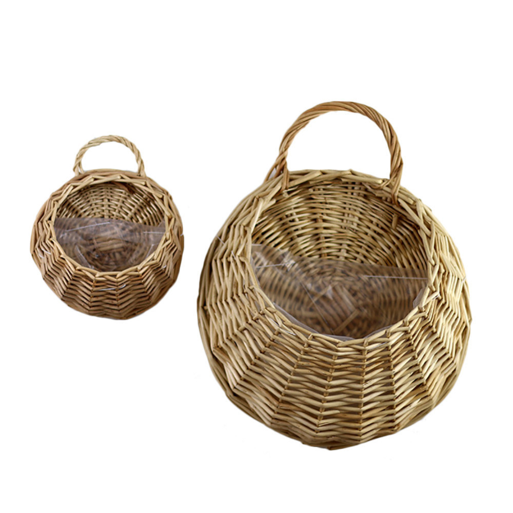 New arrival Natural Wicker Flower Basket Pot Planter Rattan Vase ...