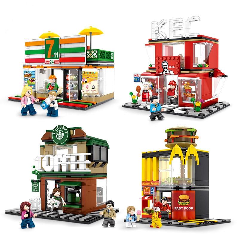 Gebäude & Konstruktionsspielzeug Trendmarkierung Diy Mini Street View Montage Bausteine Ziegel Spielzeug Kinder Lernen Pädagogisches Spielzeug Kinder Geschenke Domino