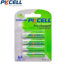 4Pcs 1Card PKCELL NIMH AA Rechargeable Battery aa 2200mAh 1.2V Low Self Discharging Batteries For Camera Toys Toothbrush