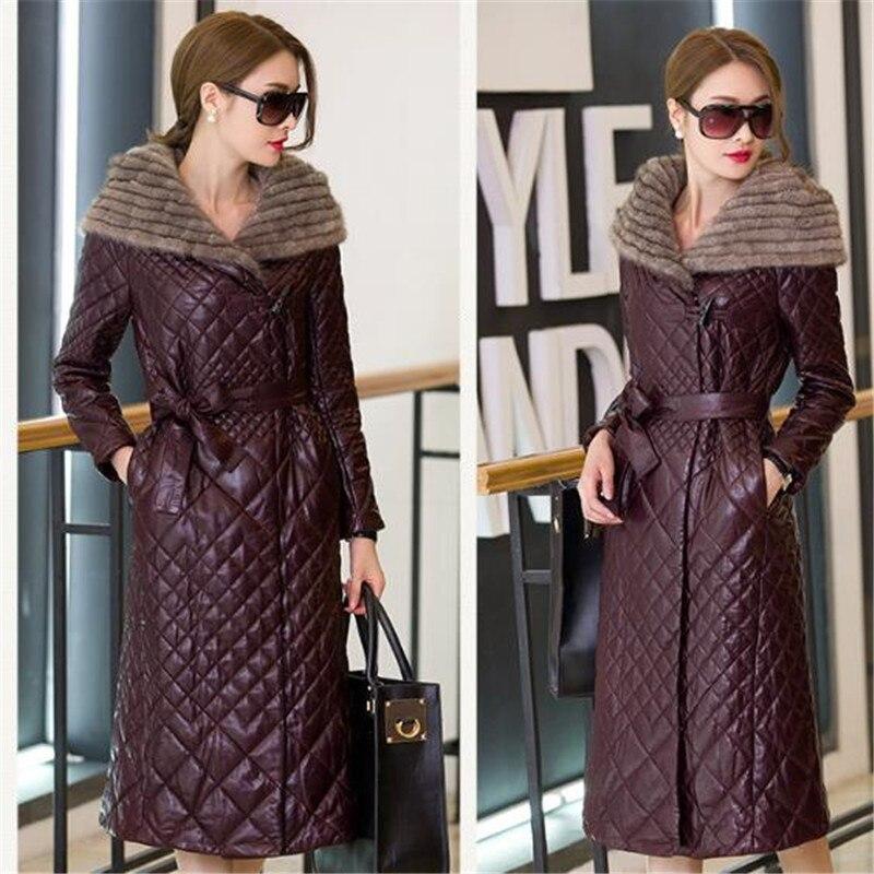 Veste Taille À purple Nouveau Chaud Gamme Vêtements Femmes A0878 Wine Capuchon D'hiver Femelle Plus 2018 Manteau Section Épaississement Black De La Longue Haut Cuir En red gfwrYvqnzg