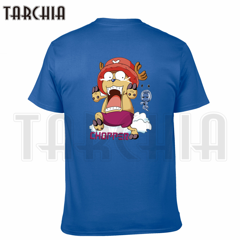 TARCHIA 2019 new summer brand t-shirt cotton Chopper one piece tops tees men short sleeve boy casual homme plus fashion