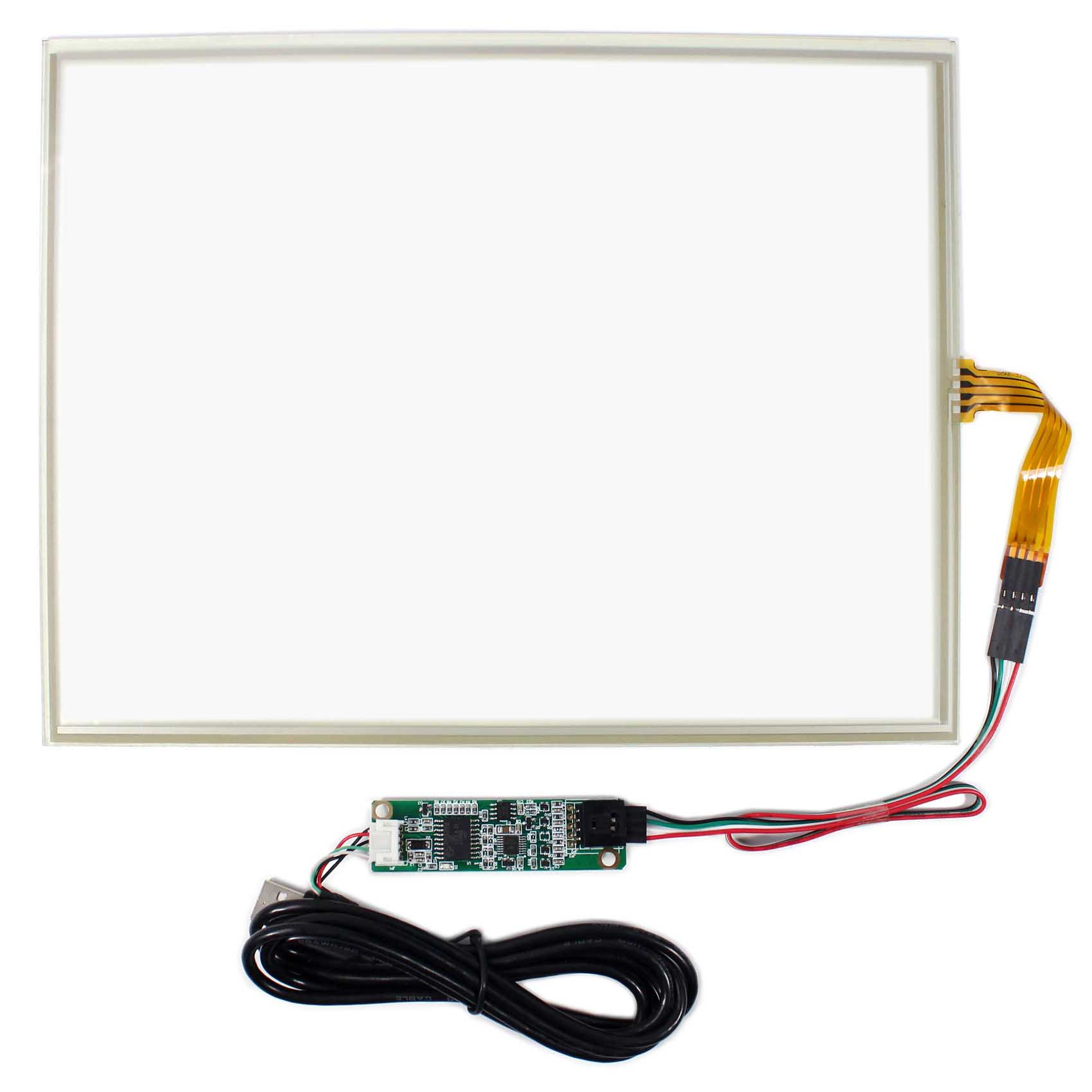 12.1inch 4-Wire Touch Panel USB Controller card for 12.1inch 1024x768 LCD Screen 10 2inch 4 wire touch panel with usb controller card for 10 2 lcd screen