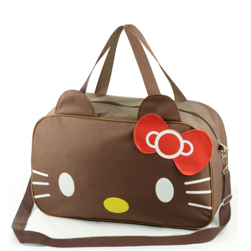 a058d7acc399 Cute Hello Kitty Cat Handbags Waterproof Travel Bag Luggage Womens Girls  Cartoon Shoulder Tote Duffle Bags Accessories Supplies-in Top-Handle Bags  from ...