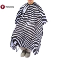 Pro Adult ZEBRA Clothes Cape Gown Barbers Hairdressing Hair Cutting Salon Tool Haircut Hair Styling