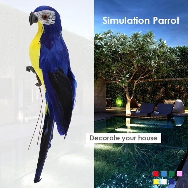 Foam Feather Artificial Parrot Fake Parrot Imitation Bird Model Simulation Animal Bird Garden Decoration DIY Party Home Ornament 5