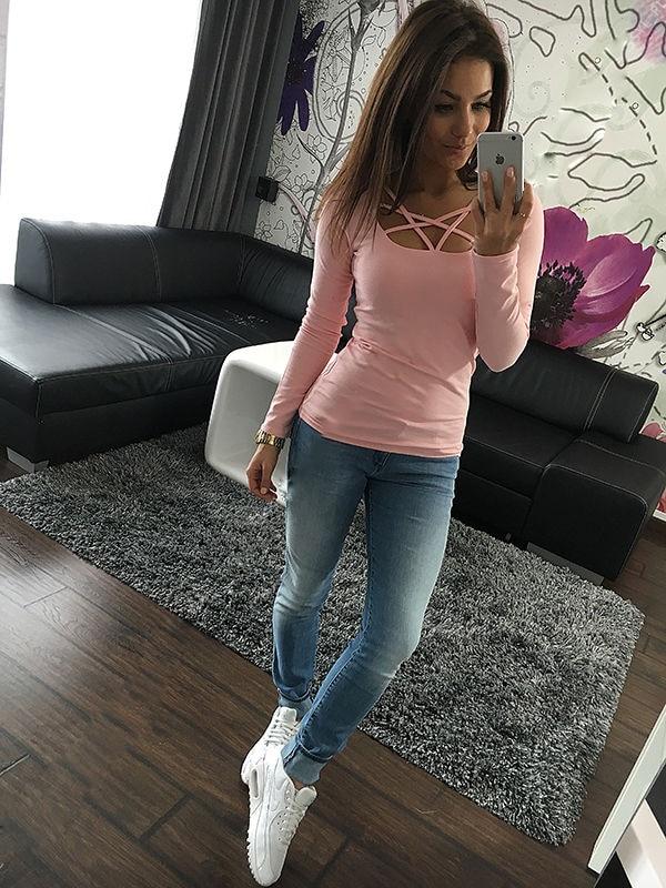 HTB1k1xDOXXXXXacaFXXq6xXFXXXJ - Autumn T Shirt Women Long Sleeve Slim Fit Solid