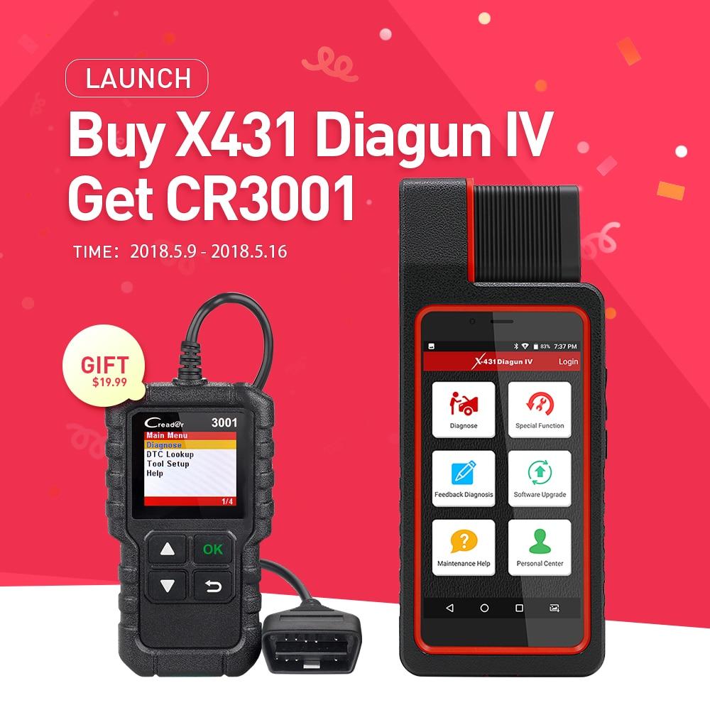 Запуск X431 Diagun IV полный ECU инструмент диагностики Поддержка Bluetooth/Wi-Fi X-431 Diagun IV Сканер хорошее чем diagun iii /3 как X431 IV