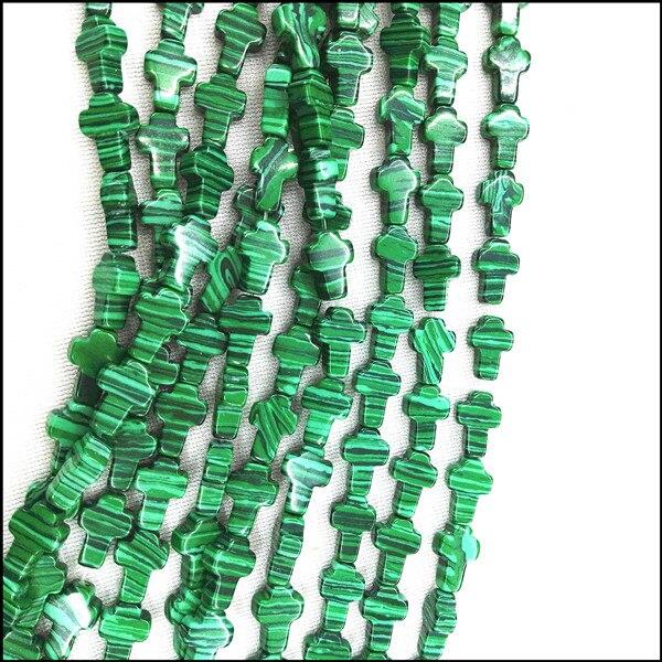 6f8befef1 33 قطعة/الوحدة الأخضر الملكيت ستون الخرز ديي الخرز الاكسسوارات سحر الخرز  الاكسسوارات الحرفية diy مجوهرات حجم 8x12 ملليمتر