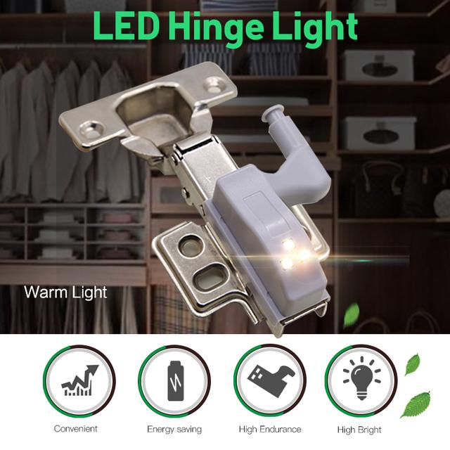 LED Cabinet Light Automatic LED Armario Motion Sensor LED Hinge Lamp Wardrobe Light for Colest Cupboard Kitchen Night Light