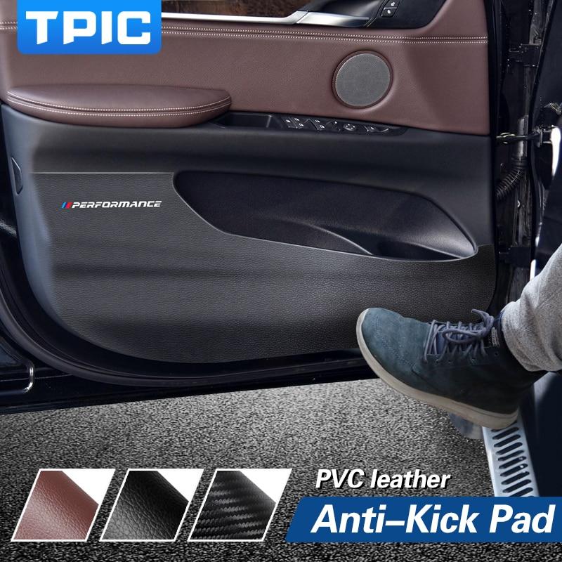 Película de borde lateral para puerta de coche, pegatina de protección de puerta antipatadas de PVC para BMW F15, F16, F25, F26, E84, E70, accesorios de Interior, 4 uds.