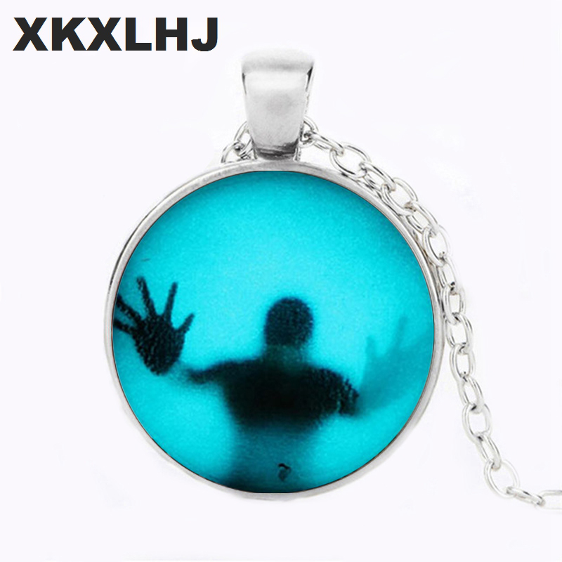 XKXLHJ 1pcs US horror movie The Walking Dead Pendant charm Steampunk Necklace doctor who lot mens vintage chain vintage